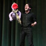 "Sammy Lowe performing a musical theatre number from ""Avenue Q""."