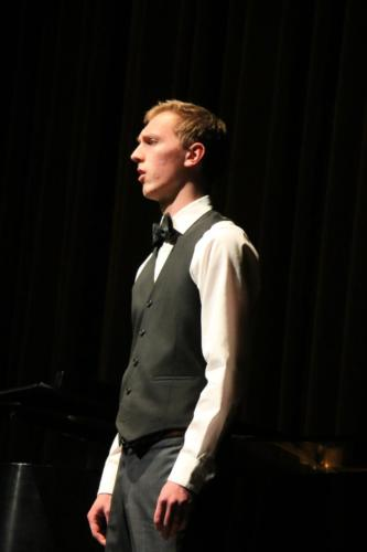 "Colden Palo singing ""Ich Grolle Nicht"" by Schumann with accompanist, Carolyn Olson"