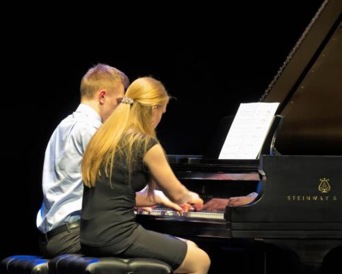 Colden Palo and Tova Olson; Brahms duet