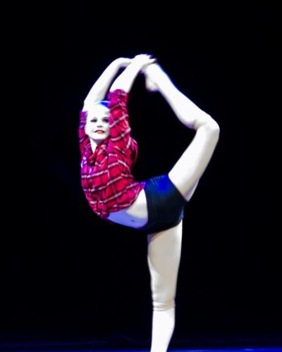 Kristen Pearson performing her jazz dance solo
