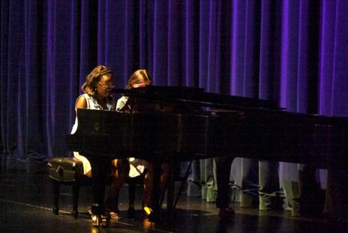 "Kallista Ashton and Jenna Worton playing the piano duet, ""Take Five"" by Paul Desmond"